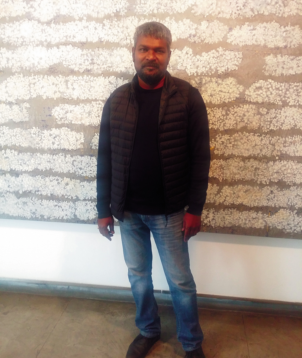 I like to play with form, material: G R Iranna